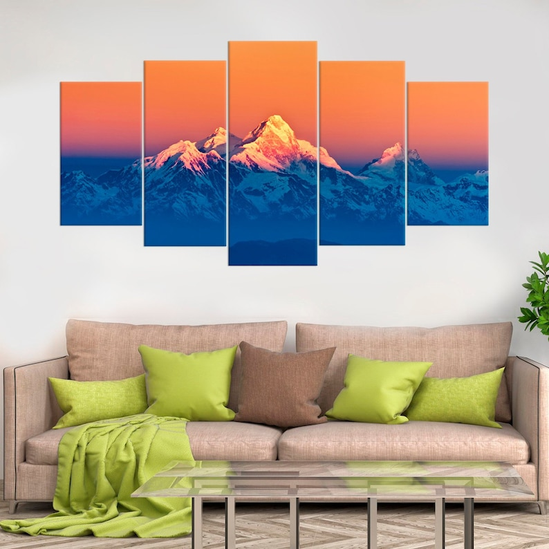 Himalayan Mountains Landscape Wall Art Home Decor The Himalayas Fine Art Photo Nature Art Mountains Large Wall Art Stretched Canvas Print