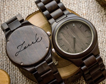 3d4dc745ed08 Your Sign Engraved Wooden Watch For Men Anniversary Gifts For Boyfriend  Gift Groomsmen Gift Personalized Wood Watch Birthday Gift For Him Cu