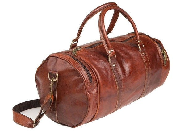 b111d5e85c25 20 25 30 inches Distressed Leather Holdall Overnight Weekend