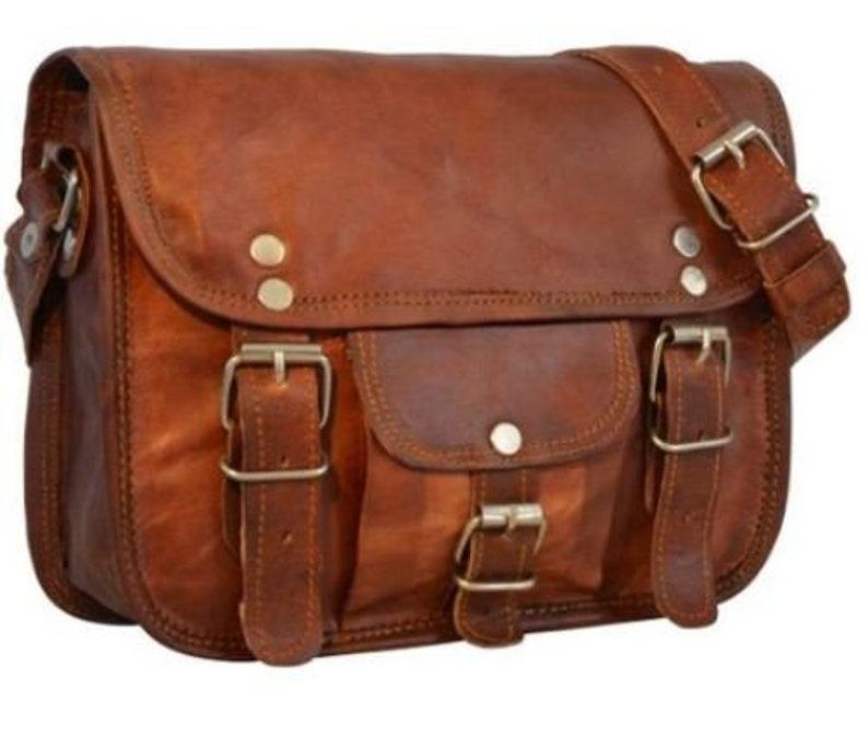 51b6917502 11 13 15 inches Genuine Leather Shoulder Satchel Purse Laptop