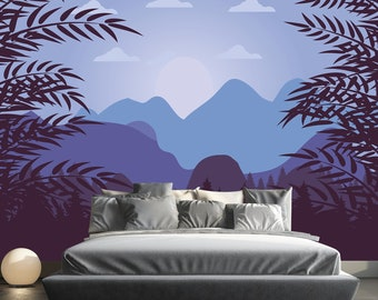 Mountain Forest Wallpaper Mural Removable Ombre Mountains Scenery With Pine  Peel And Stick Wallpaper Self Adhesive Wallpaper Bedroom SO13