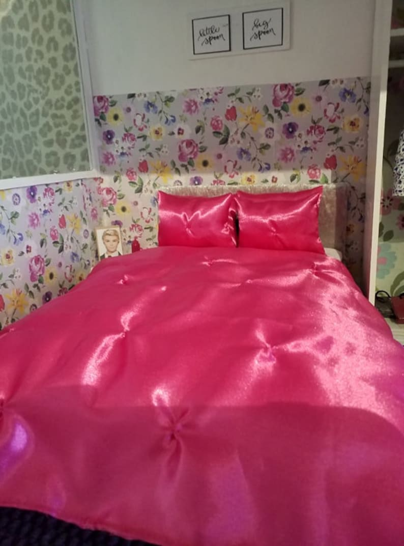 1//6 scale doll  size bedding set twin set for barbie dolls