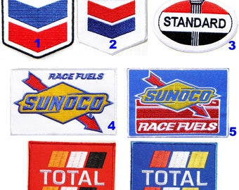 Sunoco Race Fuels Logo Formula 1 MotorSport Iron-on Embroidered Patch Costume