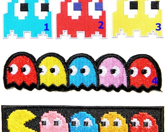 Pacman Iron on Patch Funky Retro 80s Game Patch