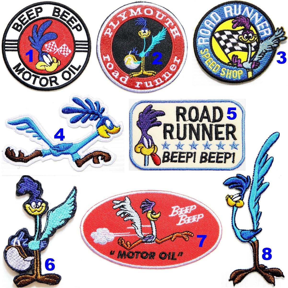 Patch Iron on Bird Beep Beep Road Runner Racing Car T shirt Logo Badge Emblem