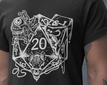 bf03aac1 Etsy Unisex T-Shirt- Dice Art - DND - Dungeons And Dragons - D20 Gift Tee-  Game Master - Adventure - RPG Shirt