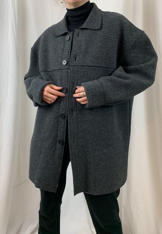 Vintage Men's Wool Jackets in Grey