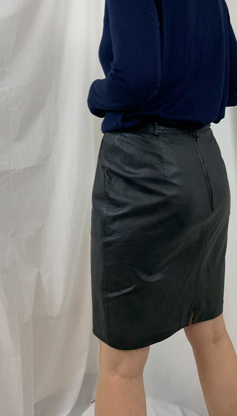 Vintage black skirt leather