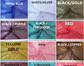 Fabric Stretch Glitter Mesh Sequin Dots Choose Your Color Sheer Sparkle 634e13ddba28