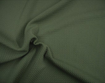 1920babadc Bullet Textured Liverpool Fabric 4 way Stretch Olive Drab T36