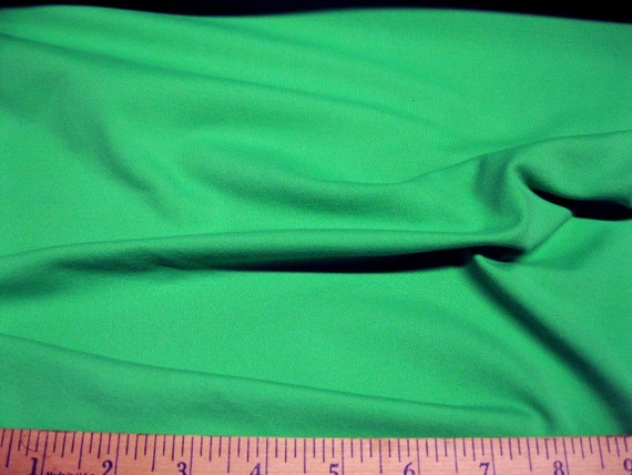 Discount Fabric Nylon Lycra Spandex 4 way stretch Solid Pine Green NLY09