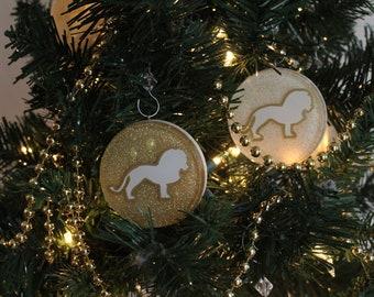 Lion Chrismon Ornament (White or Gold)