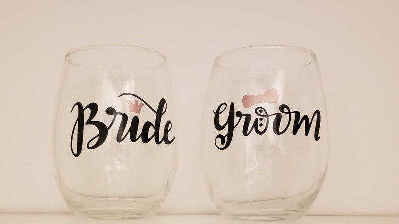 Ring Dish and 2 stemless wine glasses Personalized. Future Mrs Custom Ring Dish Engagement gift set