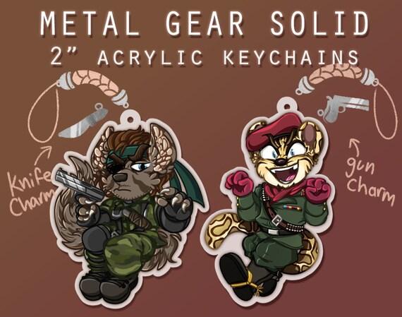 Big Boss Ocelot Metal Gear Solid 2 Acrylic Keychains