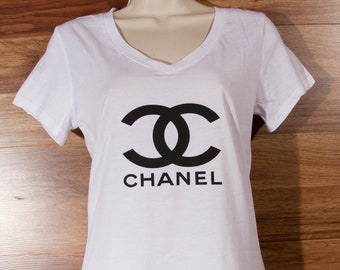 2e2672ced17 cc Chanel Women's fitted t shirt tee top