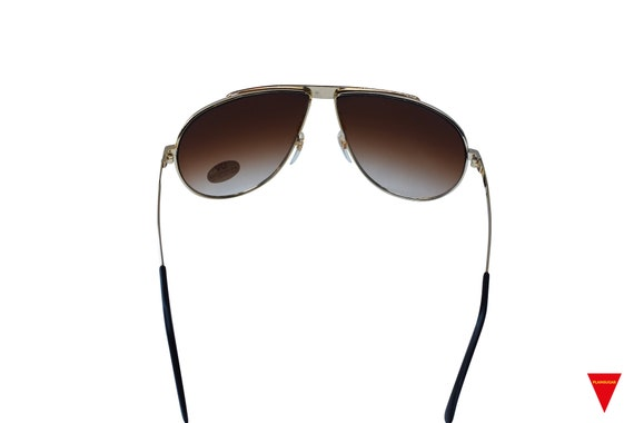 70's Aviator Sunglasses, Red and Gold Metal Glass… - image 5