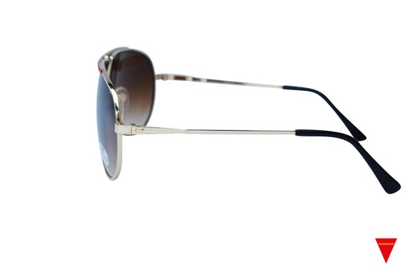 70's Aviator Sunglasses, Red and Gold Metal Glass… - image 4
