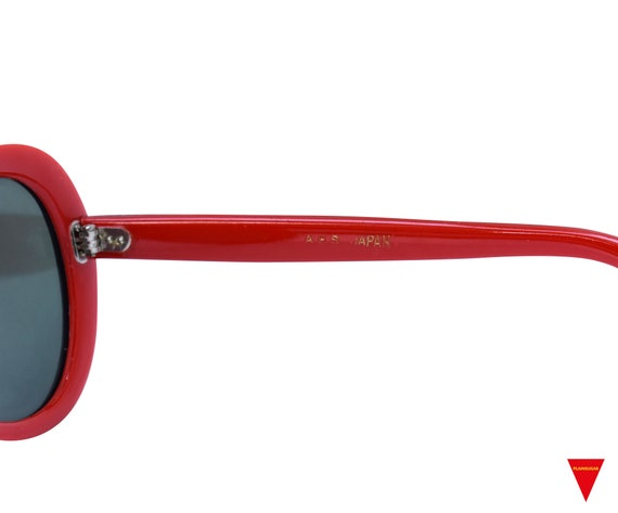 Original Vintage Sunglasses 70's Blue, Red, and W… - image 6