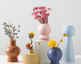 Scandi Abstract Pastel Vase
