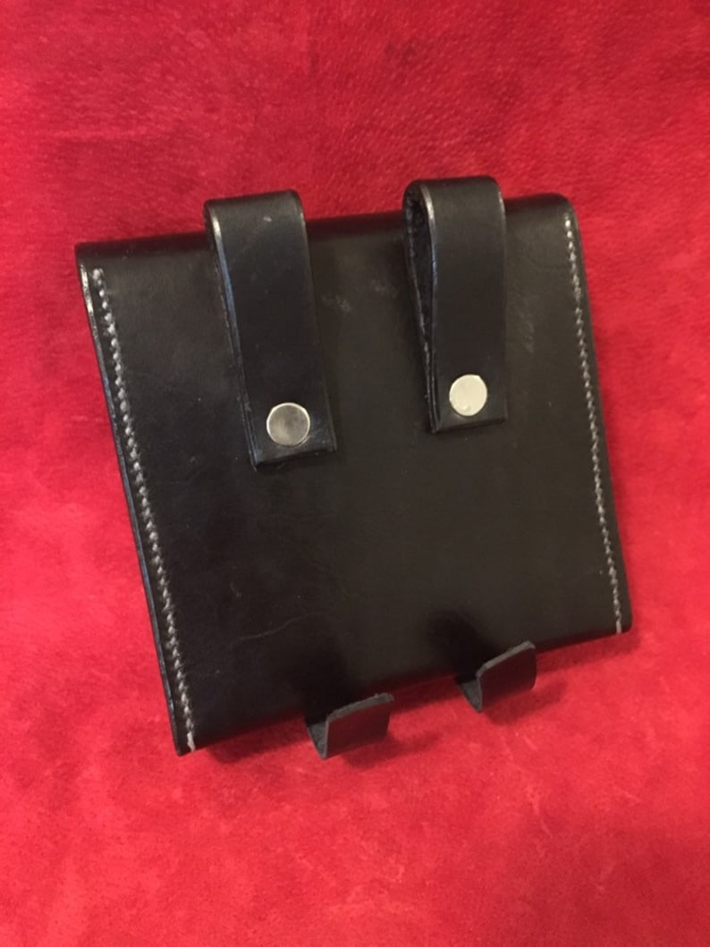 Hellhammer triumph of death hand made leather ammo pouch