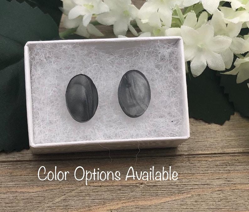 Oval Acrylic Earrings