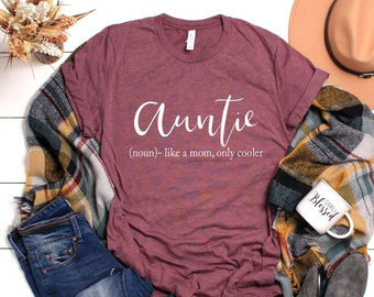f5778e95e9 Auntie Shirt - Gifts For Aunt - Aunt Quote - New Aunt - Aunt Birthday - Funny  Aunt - Christmas Gift For Aunt - Aunty - Funny Aunt Gifts