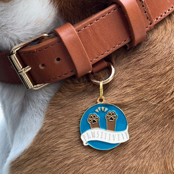 red floral collar tag collar red pet collar house collar Handmade tag collar slip-on collar red flowers