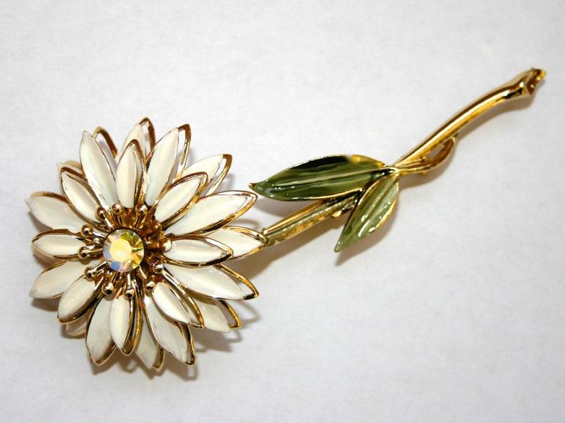7f921e7f48c Brooch pin flower 50s 1950s vintage vntg vtg Coro antique | Etsy