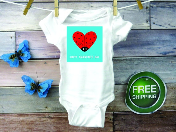 NEW Baby Girl Love Bug Lady Bug One Piece Sizes 3-6 /& 6-9 Month Valentines Day
