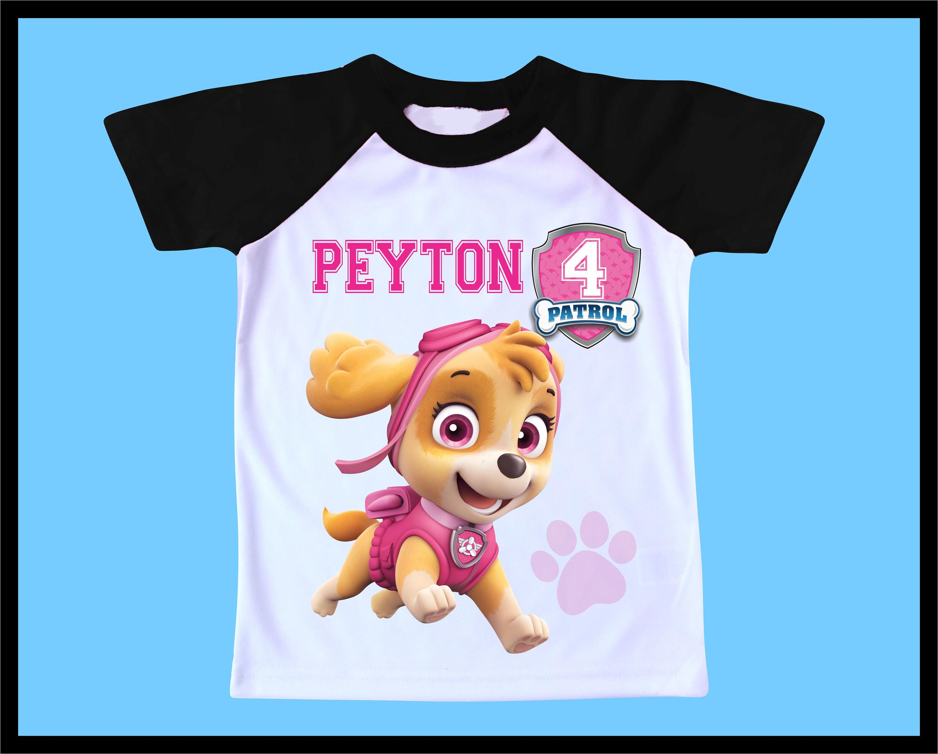 PERSONALIZED PAW PATROL Skye /& Everest BIRTHDAY SHIRT ADD NAME /& AGE FOR FAMILY