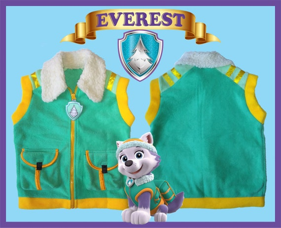 Everest Paw Patrol Vest Christmas Birthday Party Gift Ryder Marshall Zuma  Rubble Rocky Chase Skye Sizes 2T, 3T, 4T, 5T, 6T, 8 Youth