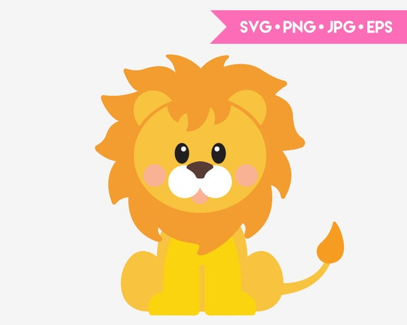 Cute Baby Lion Svg Cut File For Cricut And Silhouette Digital Etsy