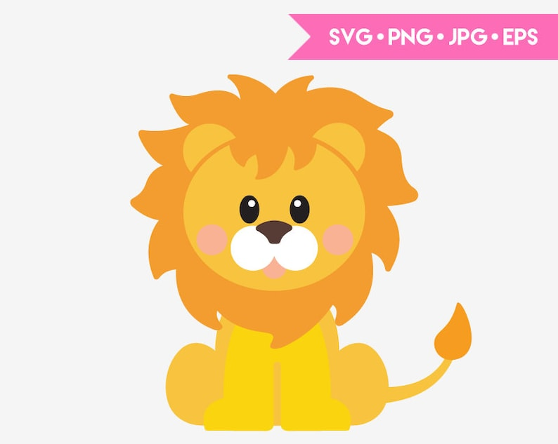 Download Cute baby lion SVG cut file for Cricut and Silhouette ...