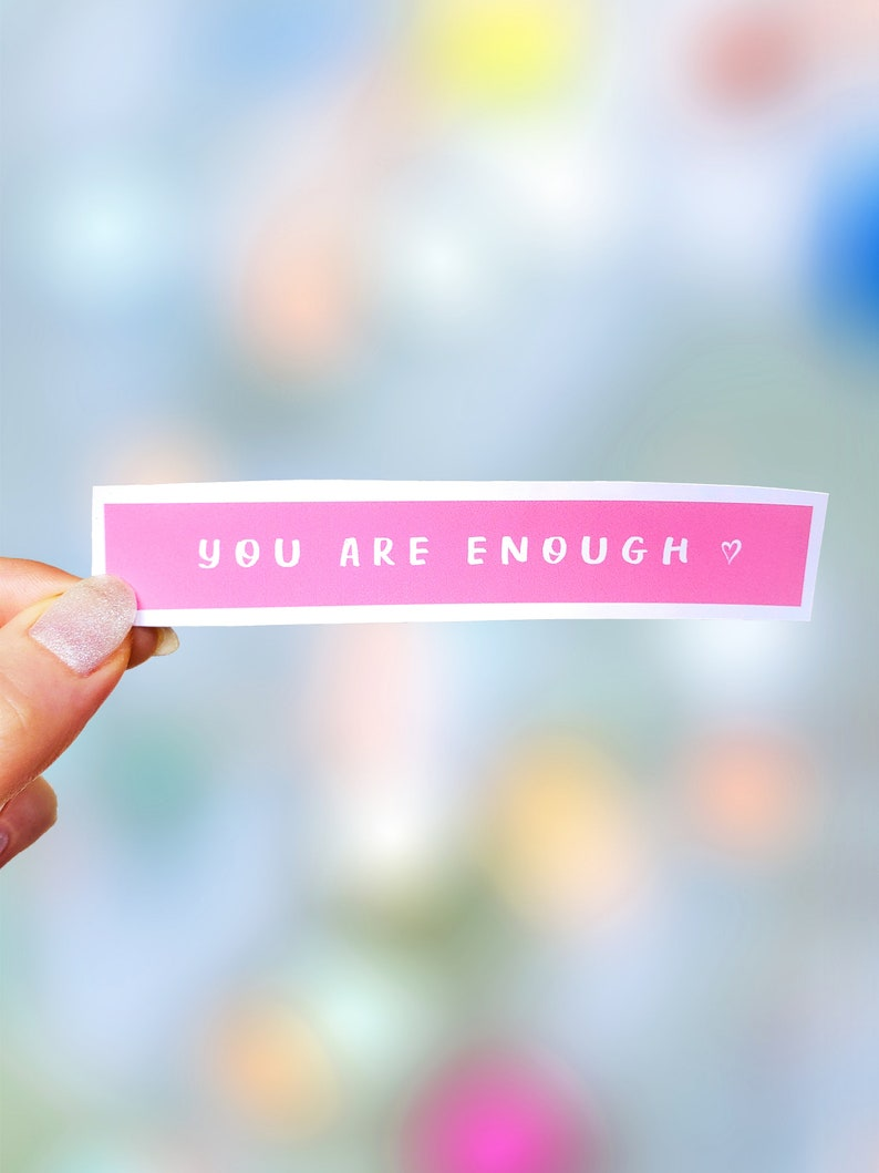 Mental Health Stickers Waterbottle Stickers Aesthetic Stickers Laptop Stickers Vinyl Stickers Positive Stickers You Are Enough