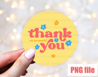 thank you sticker, digital stickers png, small business package labels, thank you labels