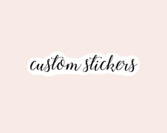 custom vinyl stickers, personalized laptop stickers, water bottle custom stickers, laptop decals