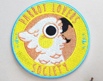 PARROT LOVERS SOCIETY | Iron on patch