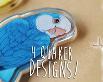 Dangling Quaker Buddy Acrylic Charm - 4 DESIGNS