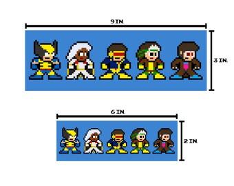8-bit MUTANT HEROES Bumper Sticker Pixel Art