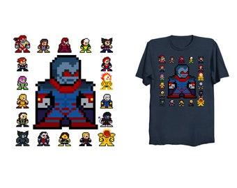 8-bit APOCALYPSE AGE T-Shirt Retro Style 8bit Pixel Art