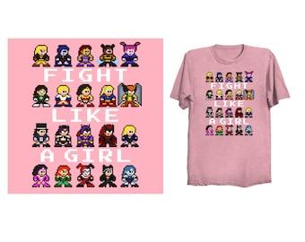 Heroic GIRL POWER T-Shirt 80s Retro Style Shirt