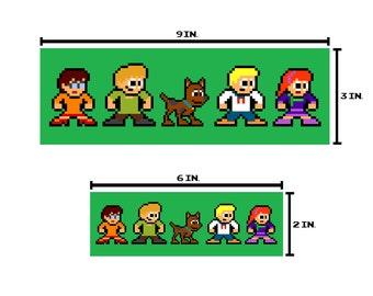 8-bit MEDDLING KIDS Bumper Sticker Pixel Art
