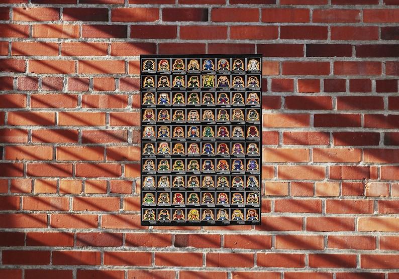 8-bit GI JOE CARDBACK 11 x 17 Poster Print Pixel image 0