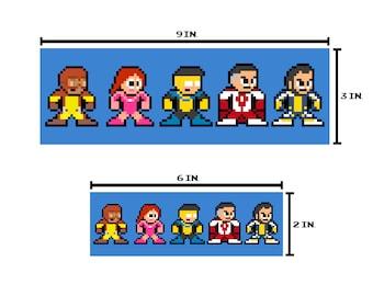 8-bit INVINCIBLE HERO Bumper Sticker Pixel Art