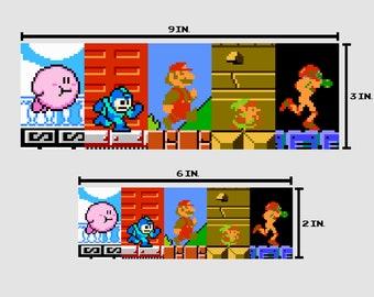 8-bit NES HEROES Bumper Sticker Pixel Art