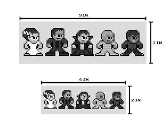 8-bit CLASSIC MONSTERS Bumper Sticker Pixel Art