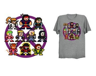 8-Bit 90s MUTANT FORCE T-Shirt Retro Style Shirt