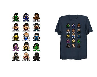 8-Bit Kombat of Mortal 2 T-Shirt Retro Style 8bit NES Shirt