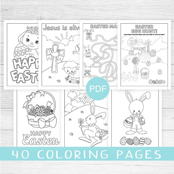 Easter coloring sheets Sunday school printables coloring