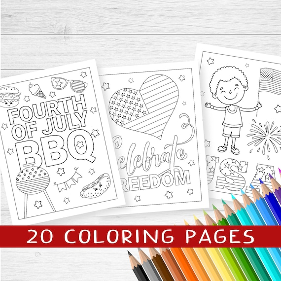 4th of July coloring 20 printable pages patriotic coloring